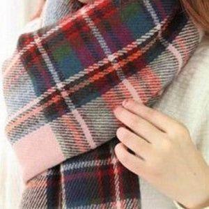 Accessories - Plaid Blanket Scarf, Tartan Plaid New